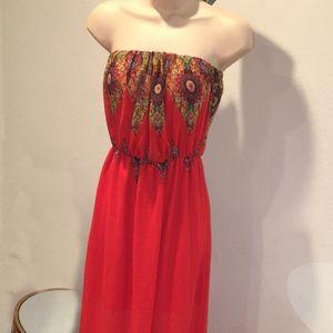 Love Tree strapless Maxi Dress